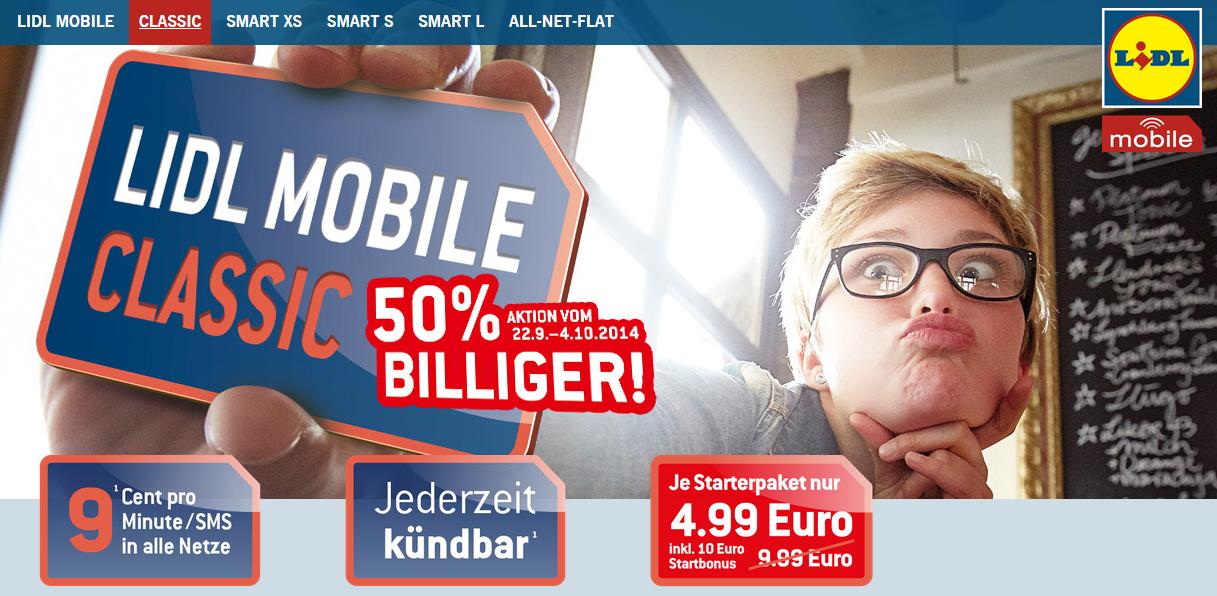 Lidl Mobile Classic 50% günstiger