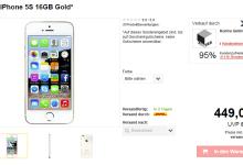 iPhone 5s mit 16 GB für 449 Euro bei meinpaket.de