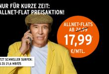 Otelo: Allnet-Flats online 7,99 Euro günstiger