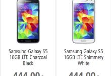 Samsung Galaxy S5 bei BASE und smartkauf für 444 Euro erhältlich