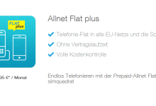 Simquadrat: Allnet Flat Plus - erste EU Ausland-Flat