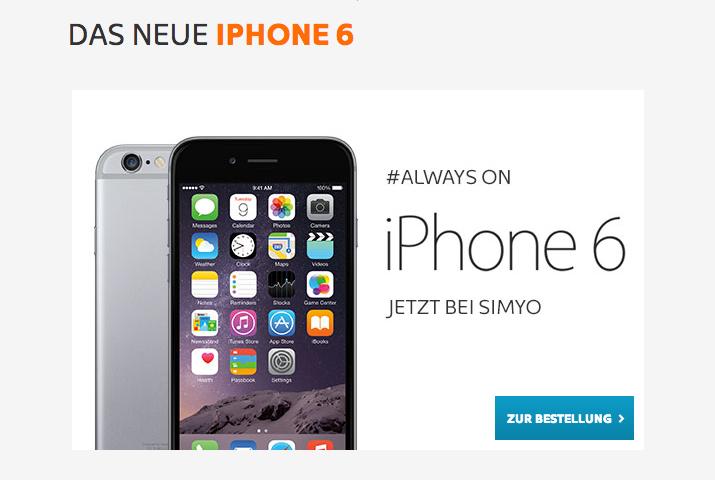 iPhone 6 bei Simyo bestellen