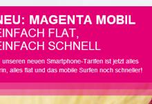 Telekom: Neue Mobilfunktarife - MagentaMobil