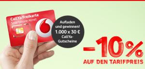 Vodafone Callya Tarif 10% günstiger