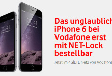 Vodafone iPhone 6 NET lock