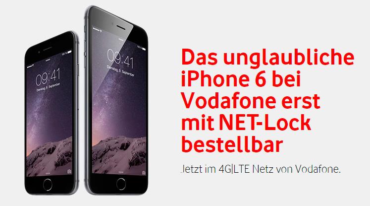Vodafone liefert iPhone 6 mit NET-Lock