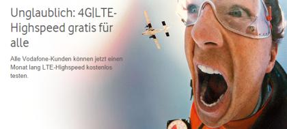 LTE gratis für alle Kunden von Vodafone