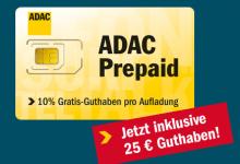 Prepaid-Karte von ADAC mit 25 Startguthaben