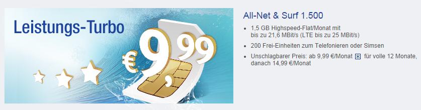 All Net und Surf 1500 von GMX und WEB.DE