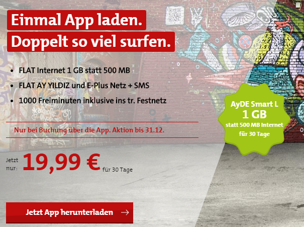 Ayyildiz Akition: Datenvolumen über App kann man verdoppeln