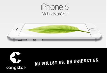 iPhone 6 bei congstar erhältlich