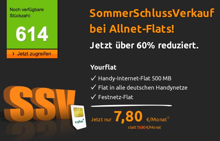 Yourflat von mobilcom debitel für 7,80 Euro