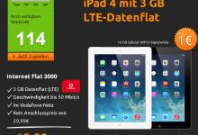 iPad 4 mit 3 GB Daten-Flat von Vodafone