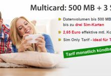DatenSIM: Mobilfunk-Tarif mit mehreren SIM-Karten