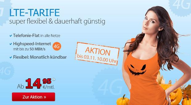 LTE Tarife mit Allnet-Flat bei DeutschlandSIM günstiger (nur diese Wochenende)