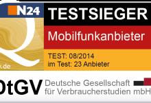 Mobilfunkanbieter - Test von DtGV