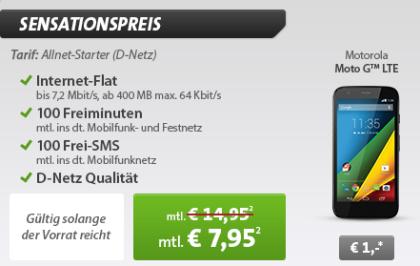 Motorola Moto G mit Klarmobil Allnet Starter