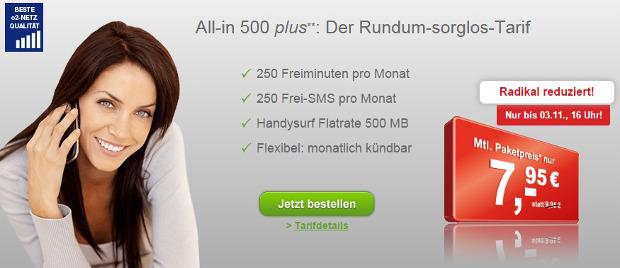 All-In 500 Plus bei maXXim reduziert