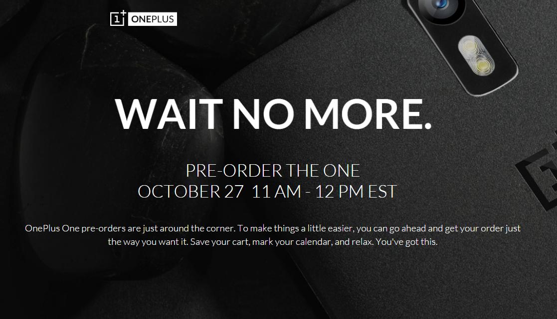 Vorbestellung für OnePlus One Smartphone