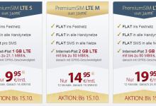 PremiumSIM neue Allnet Flatrate Tarife mit LTE