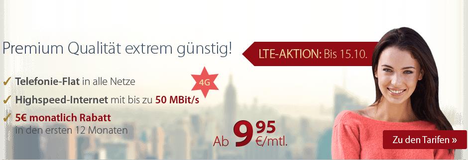 Allnet Flatrates mit LTE von premimumSIM