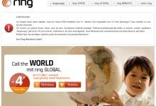 Ring Mobilfunk Betrieb wird eingestellt
