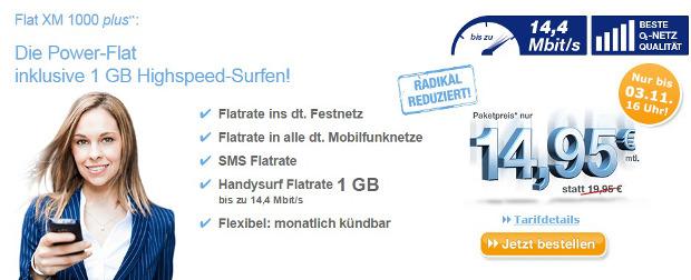 Flat XM mit LTE bei simply nun 5 Euro günstiger