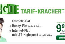 Smartmobil Allnet Flat mit 1 GB Datenvolumen und LTE