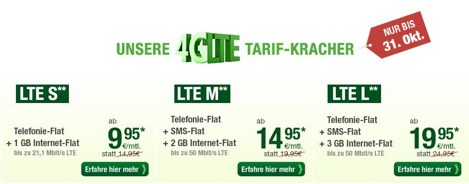 LTE S, M, L Tarif von Smartmobil