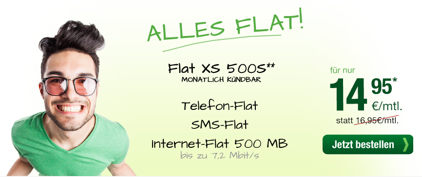 smarmobil.de Flat XS 500 günsitger