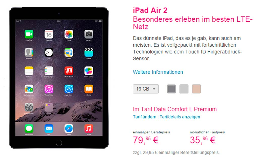 T-mobile iPad Air 2