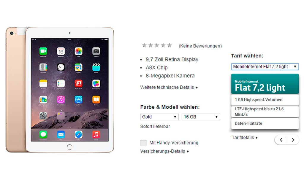 Vodafone iPad Air 2