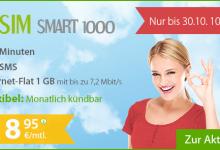 winSIM Smart 1000 für 8,95 Euro