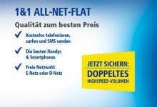 Doppeltes Highspeed-Volumen bei All-Net-Flat Tarifen von 1&1