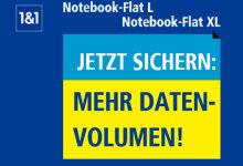 1&1 Notebook Flat mehr daten volumen