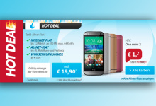 Allnet-Flat im Telekom-Netz inkl. HTC One Mini für eff. 5,98 Euro/Monat