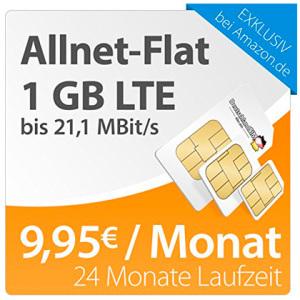 Allnet-Flat 1gb LTE 9.95/monat