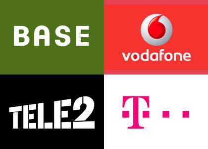 BASE Vodafone Telecom Tele2