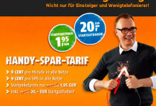 klarmobil-Einsteiger-Tarif bei Crash-Tarife für 1,95 Euro