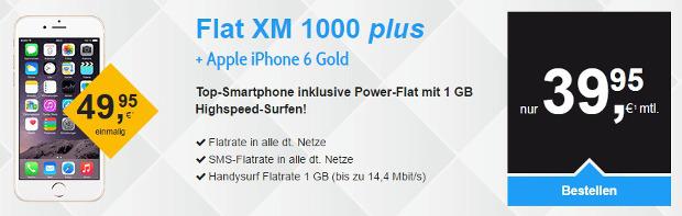 iPhone 6 in Gold mit Allnet-Flat für 39,95 Euro bei kotel bestellen