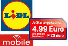 LIDL Mobile Startpaket nur 4.99 euro