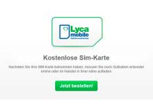 Lycamobile Kostenlose SIM-karte