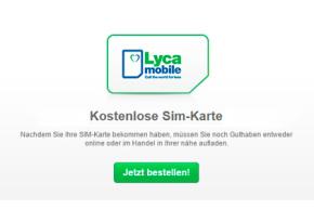 Lycamobile: Kostenlose Prepaid-SIM-Karte im Vodafone Netz