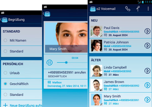 o2 Voicemail Android App