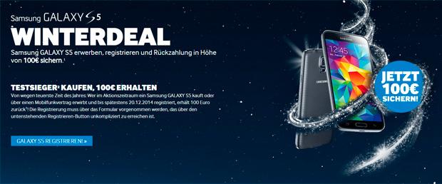 Samsung Galaxy S5 Winterdeal