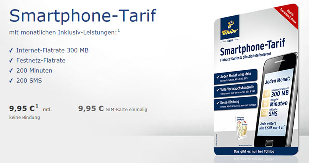 Smartphone-Tarif mit Festnetz-Flat für 9,95 Euro