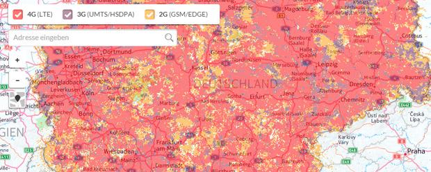 Vodafone Online-Karte