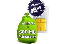 Allnet-Flat & Internetflat im Vodafone-Netz: 6,99 Euro/Monat