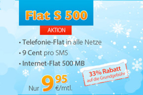 DiscoPLUS-Aktion: Allnet- & Internet-Flat 9,95 Euro – monatlich Kündbar