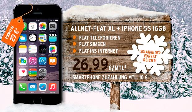 Allnet-Flat XL und iPhone 5s